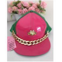 Boné pink com verde -  - Lilica Ripilica