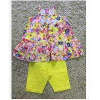 Conjunto floral amarelo - 3 anos - Momi