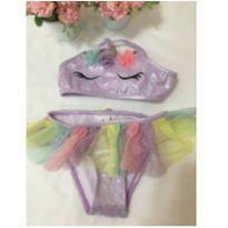Biquíni unicórnio lilás - 18 a 24 meses - Marisol