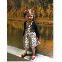 Vestido onçinha com bolerinho - 3 anos - Boca Grande