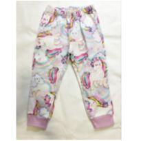 calça moletom unicórnio - 18 meses - Marisol