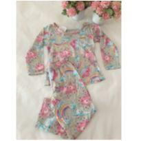 Pijama longo unicórnio - 12 a 18 meses - Marisol