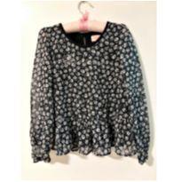 Blusa florzinhas P/B - 5 anos - Pituchinhus