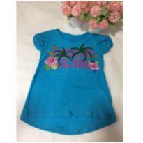 Blusa azul tropical - 4 anos - Marisol