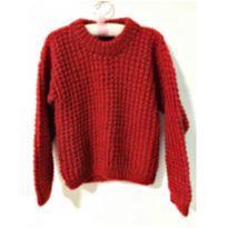 Casaco vermelho - 3 anos - Feito à mão