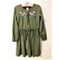 Vestido verde militar - 5 anos - Carter`s