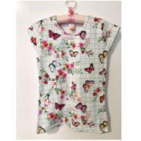 Blusa borboletas coloridas - 10 anos - Marisol