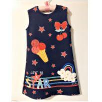 Vestido star - 8 anos - Le Petit Kukiê