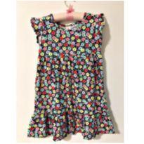 Vestido florzinhas marinho - 4 anos - Marisol