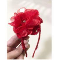 Tiara flor vermelha -  - Biju kids