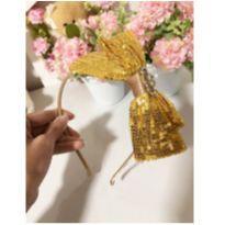 Tiara laço dourado -  - Lilica Ripilica