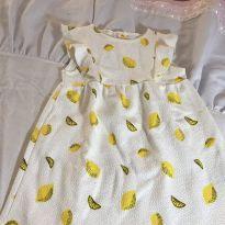 Vestido Cítrus Limão - 3 anos - Zara