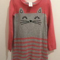 Vestido quentinho gatinho - 3 anos - Gymboree