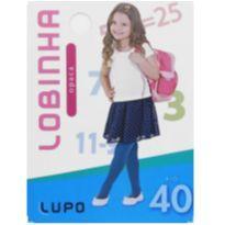 Kit com 2 Meias Calça Lupo - M (6 a 8 anos) - Branca - 6 anos - Lupo