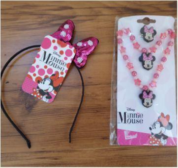 Kit com 3 Acessórios e Tiara Minnie - Sem faixa etaria - Disney
