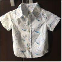 Camisa Curta 9M - 6 a 9 meses - OshKosh