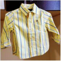 Camisa Longa Tommy Hilfiger 3/6M - 3 a 6 meses - Tommy Hilfiger