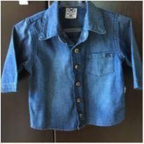 Camisa Jeans Heringbaby 6/9M - 6 a 9 meses - Hering Baby