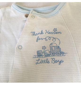 Basico Listras Azul RN - Recém Nascido - Little Me