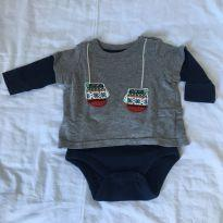 Body Arrumadinho Marinho - 0 a 3 meses - Baby Gap