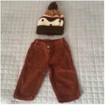 Calça Cotelê + Gorro - 0 a 3 meses - Aconchego do Bebê