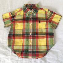 Camisa Leve Curta - 6 a 9 meses - Ralph Lauren