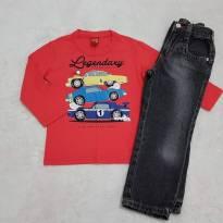 Conjunto blusa e calça jeans - 3 anos - Pool Kids