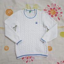 Cardigan importado branco com azul - 3 anos - Importada