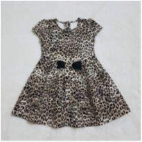 Vestido gymboree leopardo - 3 anos - Gymboree (Sem etiqueta)