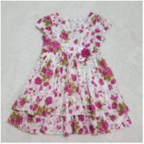 Vestido florido 3 anos - 3 anos - Não informada