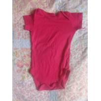 Body vermelho - 3 a 6 meses - Hering
