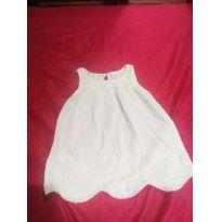 Vestido off white laise - 18 a 24 meses - Baby Club