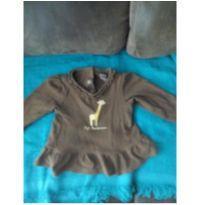 Blusa marrom girafa - 12 a 18 meses - Gymboree