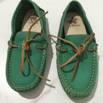 mocassim dockside de couro verde club polo tam.32 - 32 - Polo