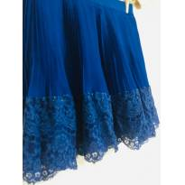 saia plissada azul royal - dress to - 14 anos - DRESS TO
