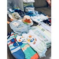Kit para bebês com mais de 40 itens para meninos até 6 meses - 6 meses - Diversas