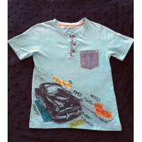 Camisa manga curta com botões alphabeto - 8 anos - Alphabeto