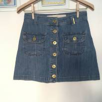 saia jeans evasê com botões frontais - ágatha - tam.34 (14/16 anos) - 14 anos - Agatha