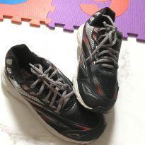 tênis escolar juvenil preto e cinza - tam.34 - 34 - Marca não registrada
