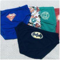 Lote cuecas liga da justiça 6/7 anos - 6 anos - DC Comics
