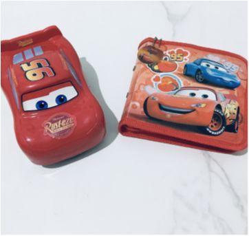 kit mcqueen carro + porta cd + brinde - disney pixar - Sem faixa etaria - Carros