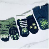 kit de meias antiderrapantes infantis - 24/25 - 4 anos - Puket