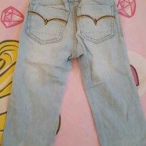 Calça jeans para sua bebê - 9 a 12 meses - meu primeiro jeans