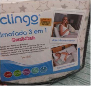 Almofada para barriga e amamentação - Sem faixa etaria - Clingo