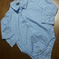 Camisa body nova 9 a 12 meses