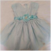 Vestido de festa azul turquesa - 1 ano - Ser Garota