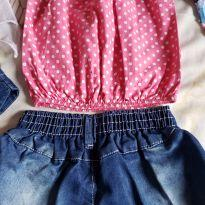 Mini look com shorts jeans - 3 anos - Disney