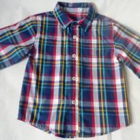 Camisa riscada manga longa - 2 anos - Healthtex