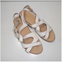 Sandália Branca Zara Girls - 34 - Zara
