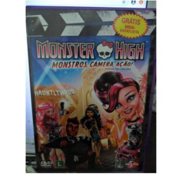 DVD MONSTER HIGH - MONSTROS, CÂMERA, AÇÃO! - Sem faixa etaria - DVD
